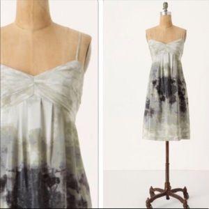 Anthropologie FEI Watercolor Silk Terrace Dress